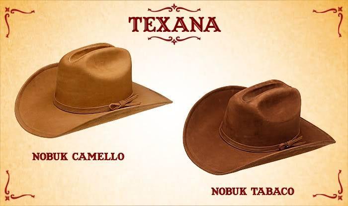 #Sombreros modelo texana, camello y tabaco.