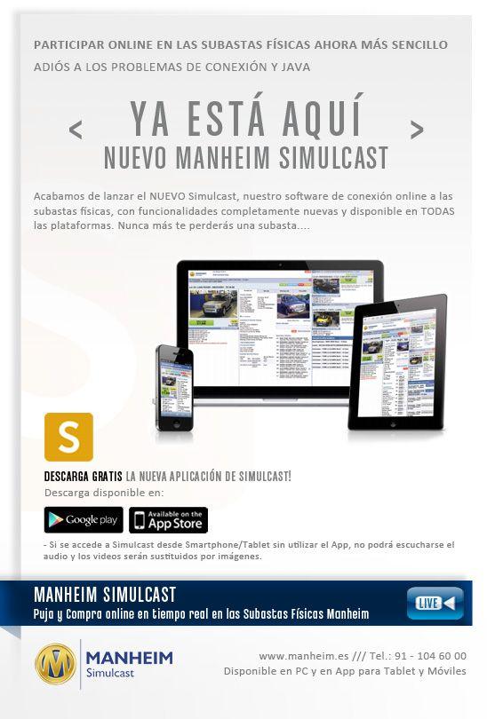 Nueva versión de Simulcast, software para seguir y participar online en las subastas físicas de Manheim España, compitiendo con las pujas de los asistentes físicos en tiempo real