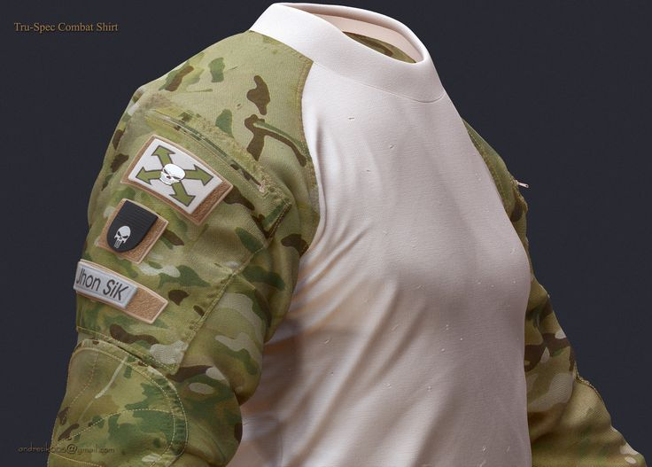 Military Shirt - Tru-Spec Combat Shirt, Andre SiK on ArtStation at https://www.artstation.com/artwork/8DQwR