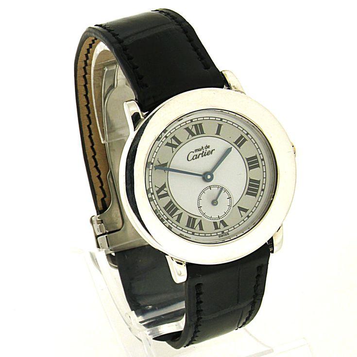 Cartier Must Ronde - article number: CA0408 #watch #cartier #cartierwatches | cartier watches mens | cartier watch for men | mens jewelry | vintage watches | vintage horloges | horloges heren | SpiegelgrachtJuweliers.com