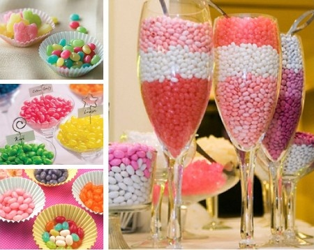 Jelly Bean treat ideas.  For Decor and Edible! Great for Easter