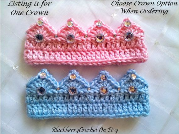 This listing is for one Crown, (or the entire Set if you select that option), custom made for you! These items are made with Caron soft yarn for extra comfort for your little one. I recently updated my design to include a fully elastic band inside the crown to allow for a more comfortable and longer lasting fit. Each crown can comfortably stretch a few inches to grow with your baby. If you select to purchase the Set, the Bottoms also feature an elastic waistband for a better fit and more…