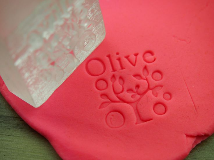 Olive Tree Custom Handmade Stamp_Acrylic Glass Soap Stamp