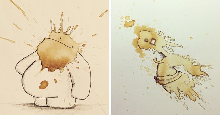 I Turn Random Coffee Stains Into Monsters