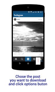 Back to Insta Save to see the list of copied posts. Now you can save the images/videos or copy the post description to clipboard.