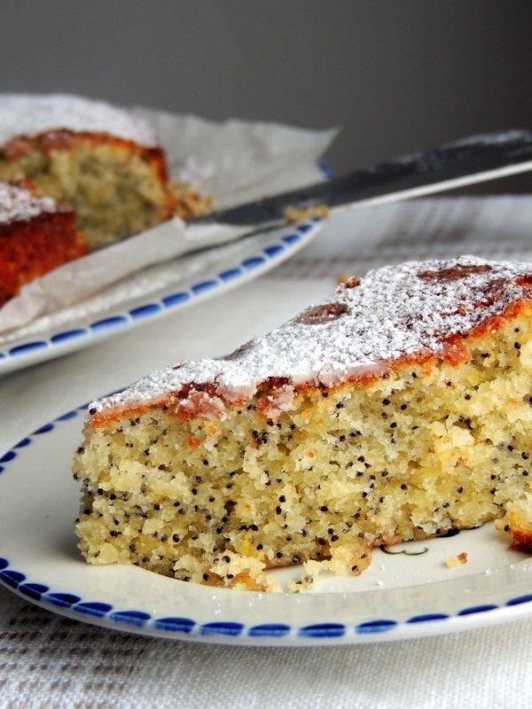 Citronkage med blå birkes og marcipan. | Den glade kagekone