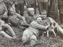Russian soldiers on holiday, WWI, c.1915-16