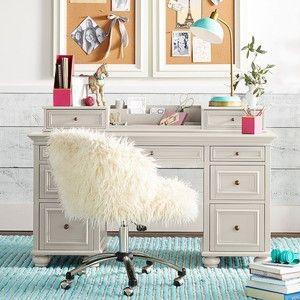 Bon PB Teen Chelsea Desk Hutch, PBTeen White At Pottery Barn Teen   Teen Desks