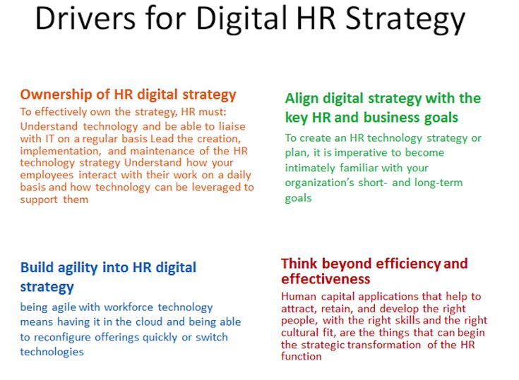 Drivers For Digital Strategy  Great Hr Life    Digital