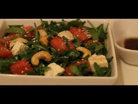 Salata de rucola cu pepene rosu