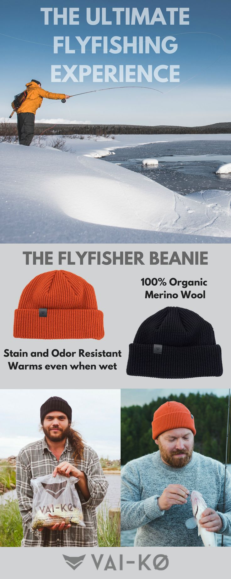 Flyfishing Wool Beanie for Men. Flyfishing photography. Winter Summer fishing. Shop here!