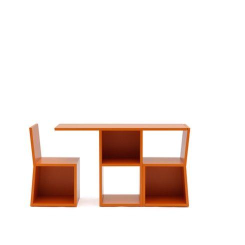 「テーブル+椅子」に変身する収納【Trick】|インテリアハック