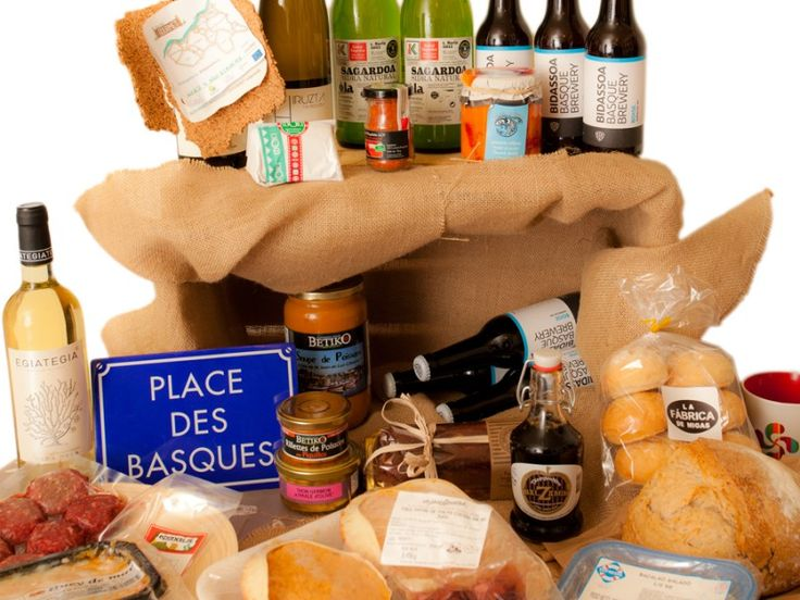 Guregourmet Basque Basket full with lovely products and wines from Basque Country