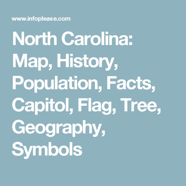 North Carolina: Map, History, Population, Facts, Capitol, Flag, Tree, Geography, Symbols