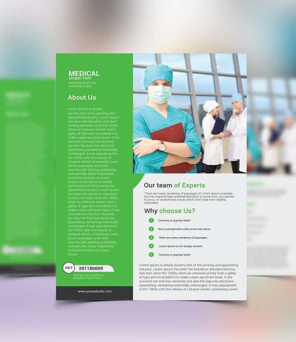 21 best Medical Flyer \/ Brochure images on Pinterest Brochures - hospital flyer template