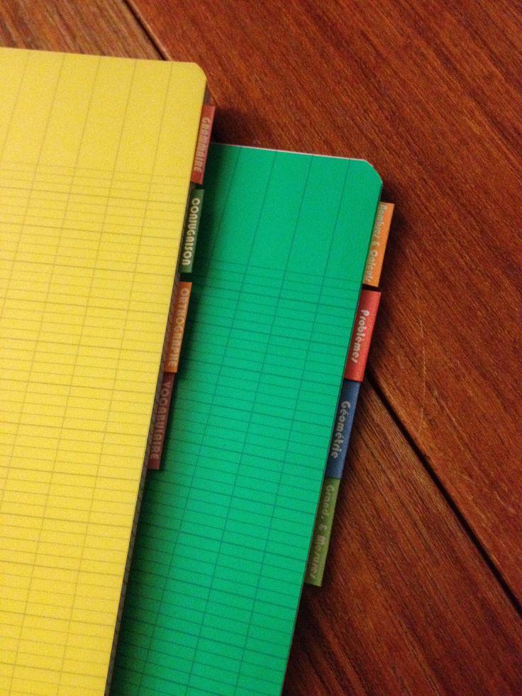 Mes index cahiers... Trop contente, ça rend vachement bien !!