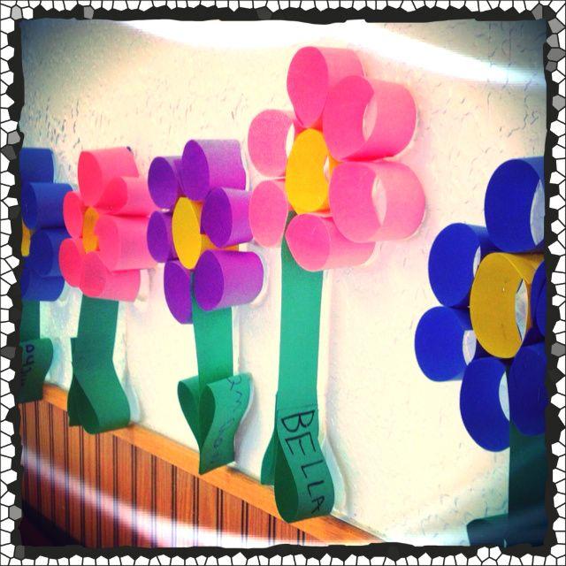 Soy preescolar decorados para el sal n de clase las flores son maravillosas y un milagro de - Decoracion para el salon ...