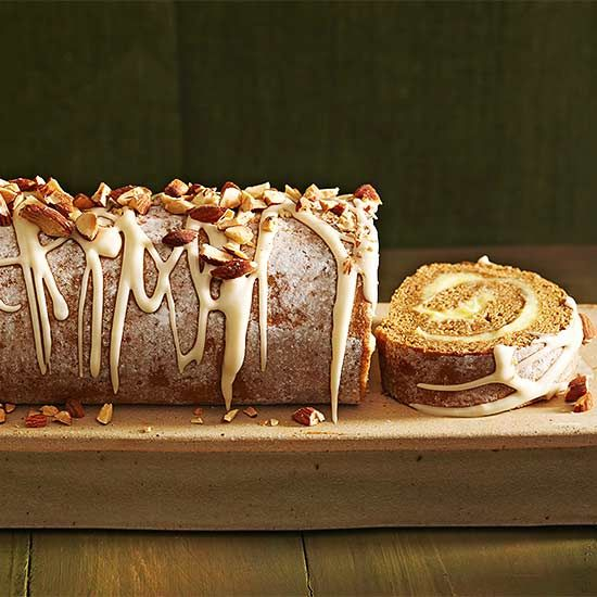 Pumpkin Cake Roll: Full of fall flavors all in a pretty package.