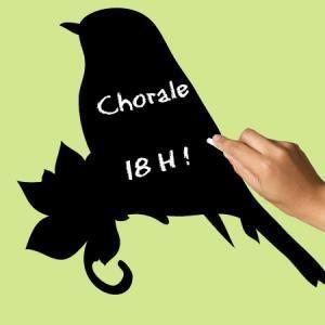 Stickers Ardoise Oiseau du Printemps