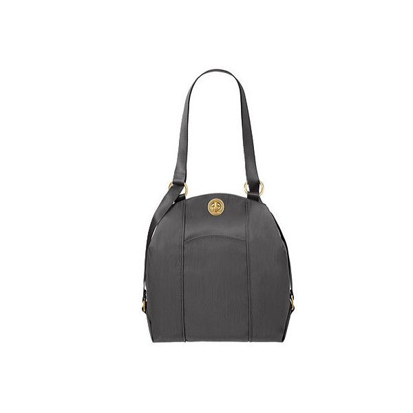 Women's baggallini CBP112 Mendoza Backpack - Charcoal Backpacks (315 BRL) ❤ liked on Polyvore featuring bags, backpacks, black, light weight backpack, single strap backpack, lightweight rucksack, baggallini bags and one strap bag