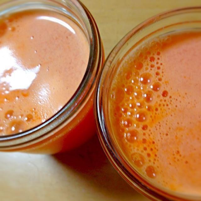 おはようございます☀ - 5件のもぐもぐ - 人参林檎檸檬ピンクグレープフルーツジュース by seabreeze