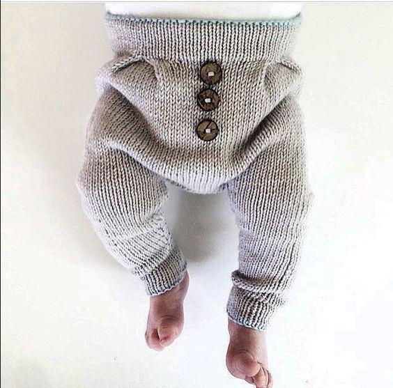Knitting children pants models