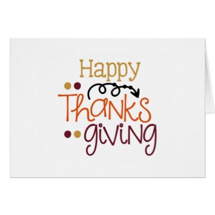 Happy thanksgiving greeting card - thanksgiving day family holiday decor design idea