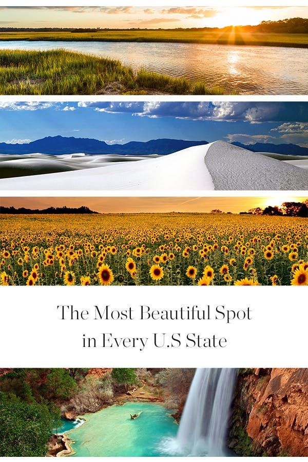usa travel // The Most Beautiful Spot in Every U.S. State via @PureWow
