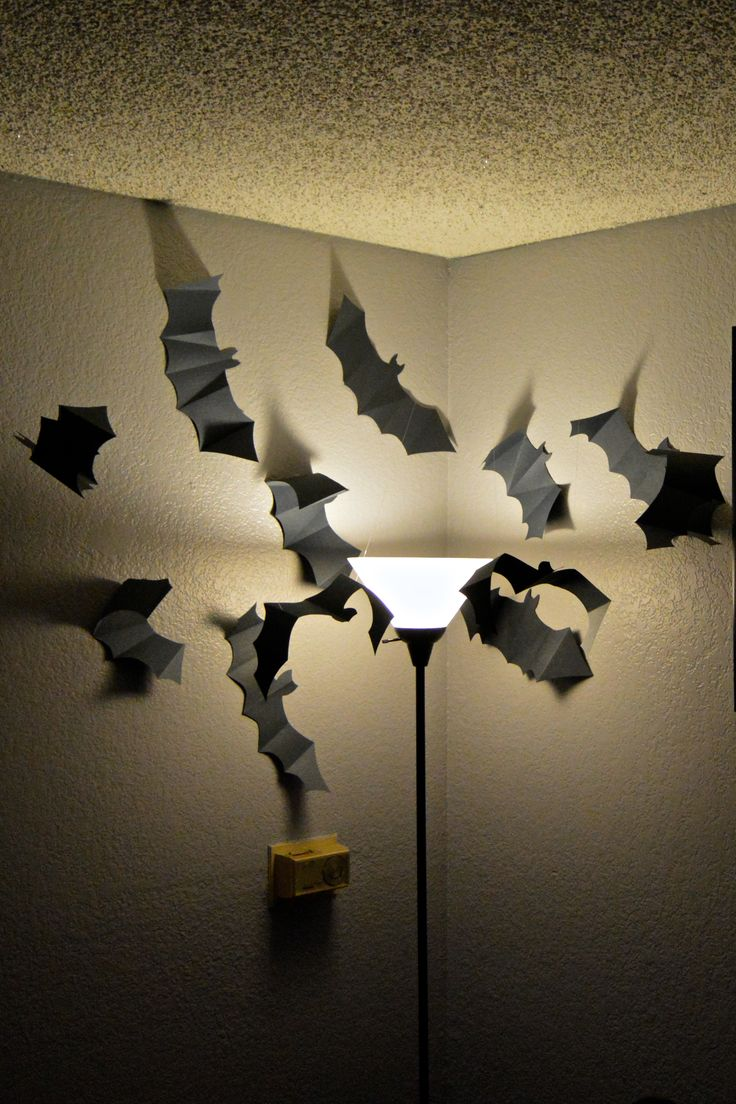 Homemade paper halloween decorations - Halloween Decor Paper Bat Swarm Homemade Halloween Decorationshalloween