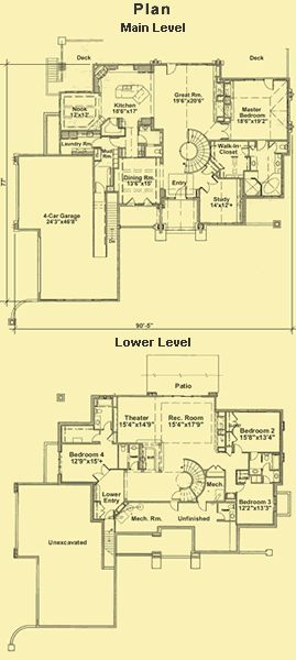 Ranch Style House Plans Craftsman Plans Luxury Ranch