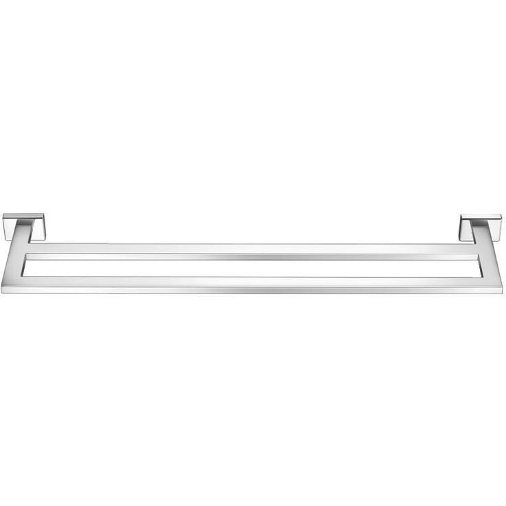 SCBA Enigma 23.6 inch Double Towel Bar Rail Holder Hanger Bath Towel Rack, Brass