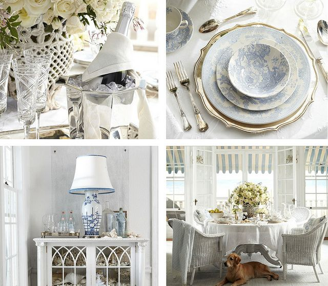 Ralph Lauren... Love it.: Dining Rooms, Table Settings, Cottage Chic, Place Settings, Beach Setting, Themed Rooms