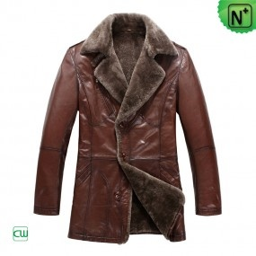 Men's Fur Leather Trench Coat CW819069 ❤ Design For Valentine's Day - m.cwmalls.com