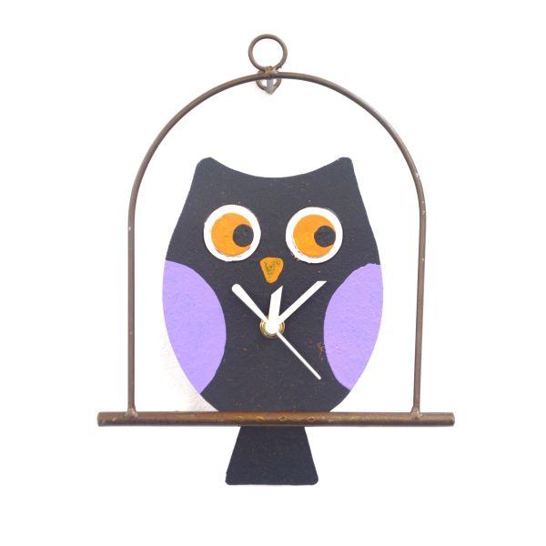 Oxidos Owl on Perch - Black