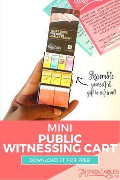 FREE DIY Mini Public Witnessing Cart   JW Printables #jw #jworg