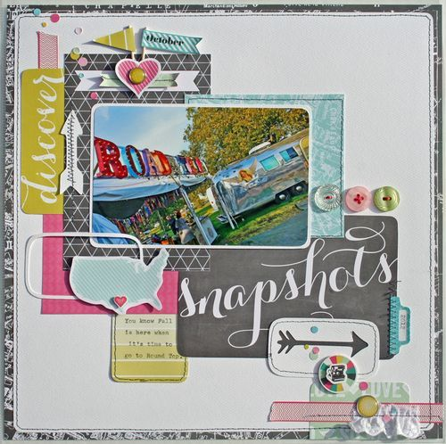Snapshots layout from Today's Story Photo Freedom Collection. #echoparkpaper
