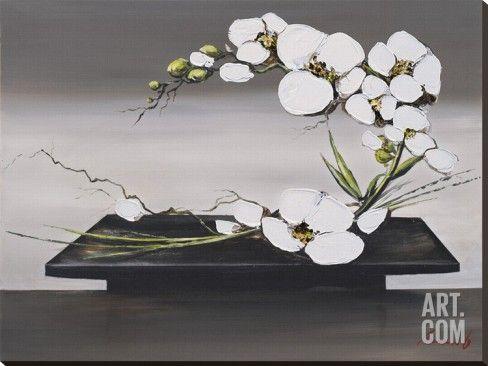Art.fr - Tableau sur toile 'Bonheur D'Orchidees Blanches II' par Olivier Tramoni