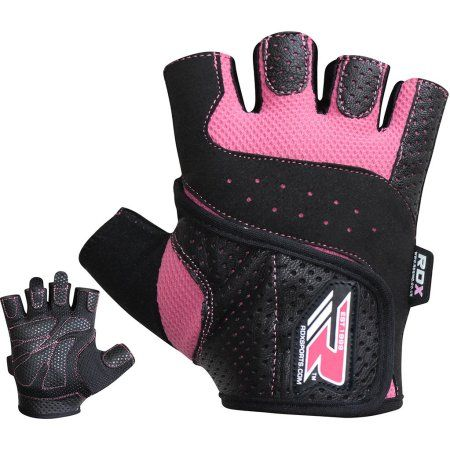 RDX Women Weight Lifting Gloves Ladies Pink Gym Strength Training Bodybuilding Crossfit Workout Fitness Breathable Powerlifting Exercise