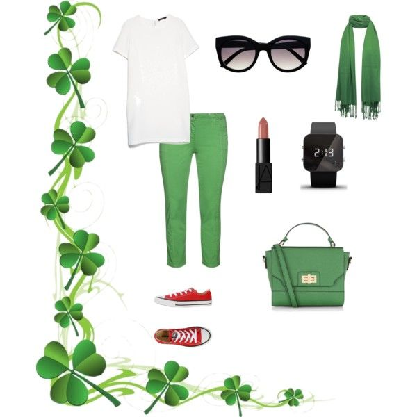 Green Day by dessy-latief on Polyvore featuring polyvore, fashion, style, MANGO, aprico, Converse, Accessorize and 1:Face