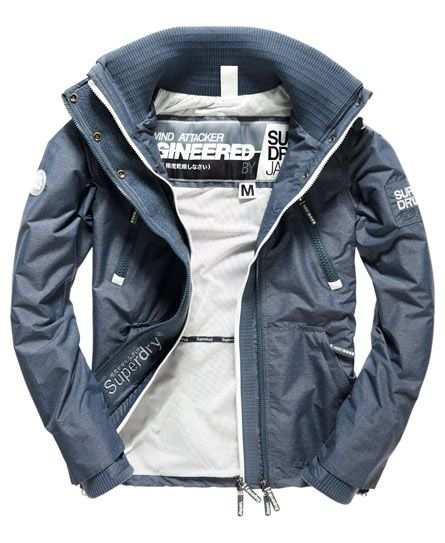 Shop Superdry Mens Technical Wind Attacker Jacket in Mid Charcoal  Marl/ecru. Buy now with free delivery from the Official Superdry Store.