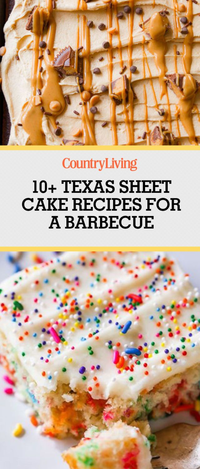 Save these Texas Sheet cake recipes for later by pinning this image, and follow Country Living on Pinterest for more.
