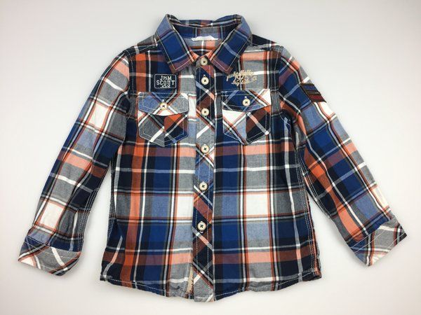 Jack & Milly, cotton long-sleeved checked shirt, excellent pre-loved condition (EUC), boy's size 4, $11  #shirts #boysfashion #kidsfashion #daisychainclothing