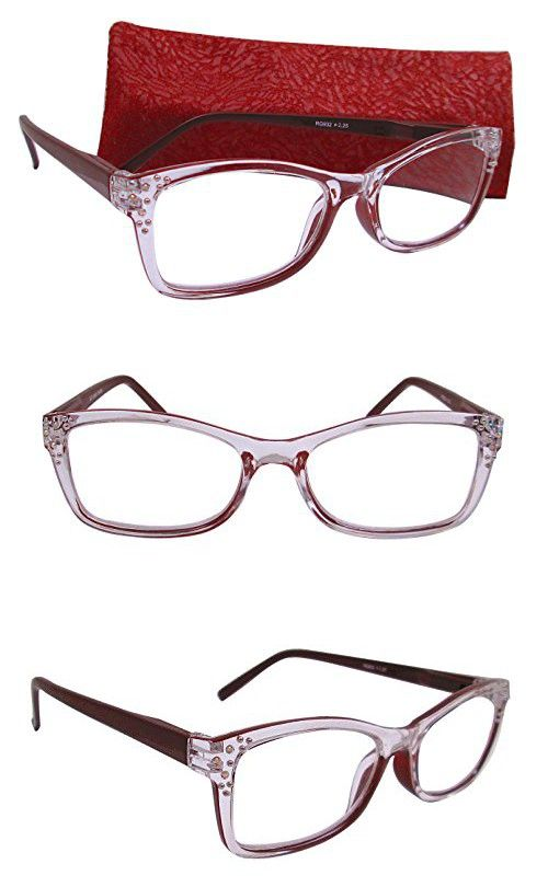 c7fb8ad42628 Artwear Women s Crystal Clear Readers 51 Clear and Brown 2.00x
