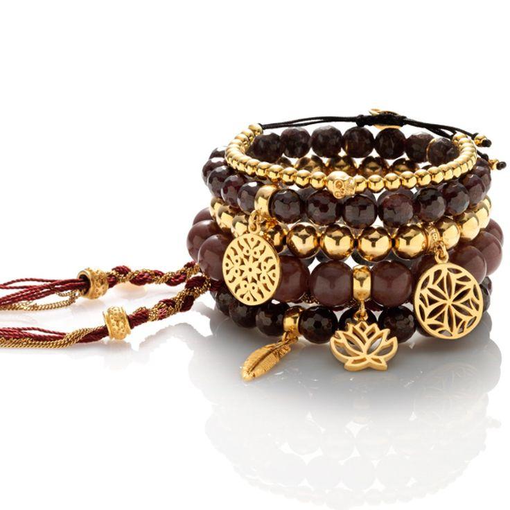 Zestaw: Burgundowe upojenie #mokobelle #mokobellejewellery #jewelry #jewelryaddict #fashion #bracelet #set #look #gold #burgund