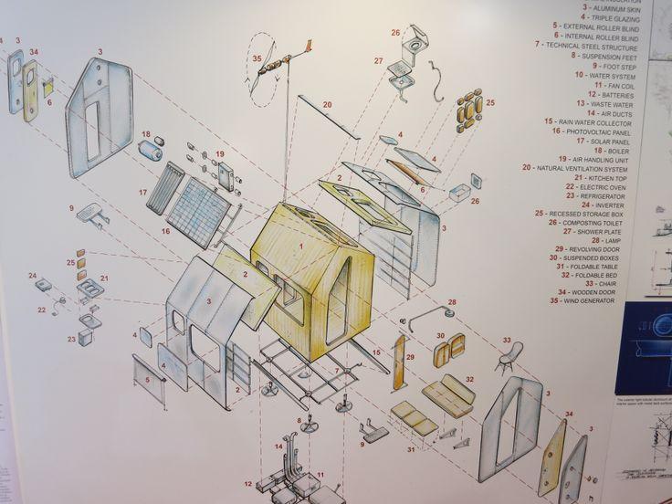 Progetto di casa ecologica, riciclabile una volta dismessa, by Renzo Piano.