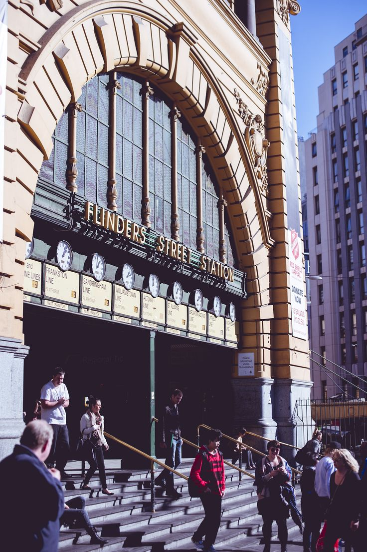 Flinders Street Railway Station - it is a tradition to meet under the clocks