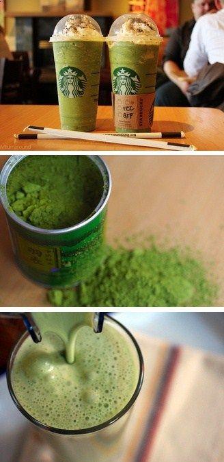 Green Tea (Matcha) Frapp Recipe #starbucks #matcha #recipe