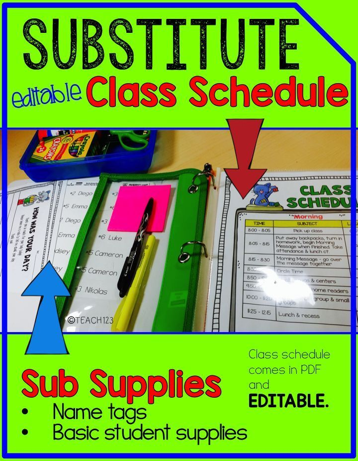 Pete the Cat themed Sub Binder: Writing sub plans is one of those things I learned the hard way. I don't remember any of my undergrad classes addressing sub plans, yet these are a big part of a teacher's job. If you plan ahead, set up a system, and put in a little time you will be pleasantly surprised at how smoothly your class will run when you have those unexpected absences. This system is also great when you are planning for a maternity leave. link to paid