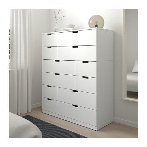 NORDLI Kommode med 12 skuffer - hvit - IKEA