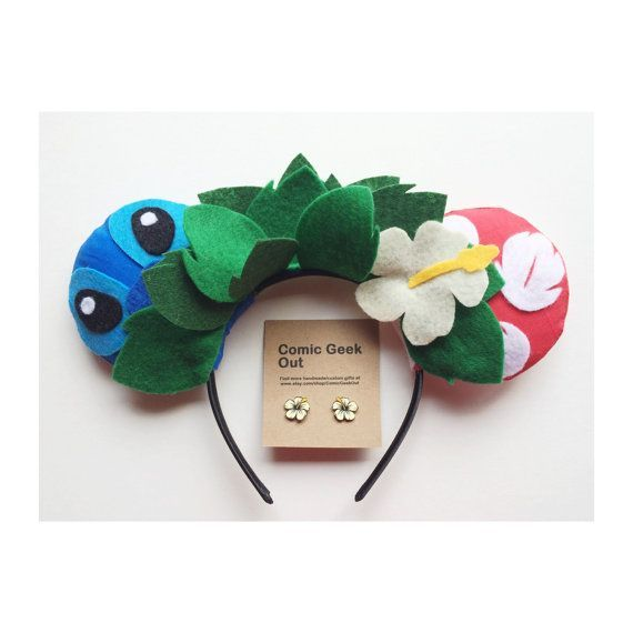 Minnie Ears Lilo & Stitch themed by ComicGeekOut on Etsy disney crafts for adults #disney
